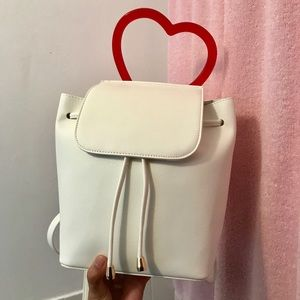 White Heart Backpack